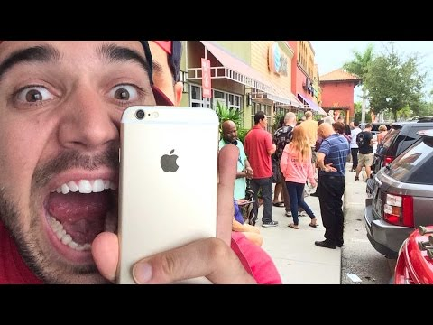 CAMPING FOR NEW iPHONE 6!!