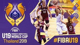 Thailand v Latvia - Full Game - FIBA U19 Women's Basketball World Cup 2019