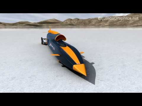 Bloodhound SSC 1000 mph rocket car, land speed record attempt