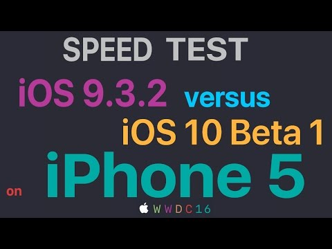 iPhone 5 : iOS 9.3.2 vs iOS 10 Beta 1 Build 14A5261v Speed Test