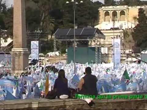 Berlusconi – Piazza del Popolo 23.03.2013 – Roma  (Parte prima)  HD
