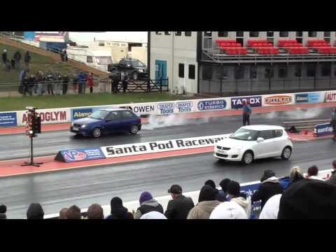 Ford Fiesta V Suzuki Swift Drag Race - 1/4 mile