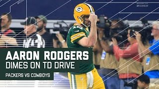 Rodgers Caps Flawless Drive with TD Pass to Cook!   Packers vs. Cowboys   NFL Divisional Highlights