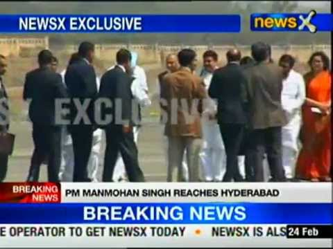 PM reaches Hyderabad to meet blast victims