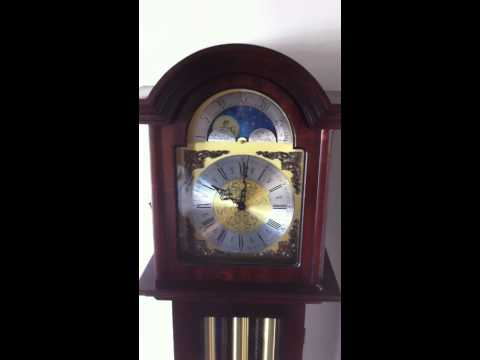 Grandfather clock chiming