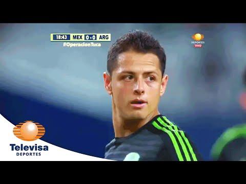 Gol de Chicharito 1-0 | México vs Argentina | Televisa Deportes