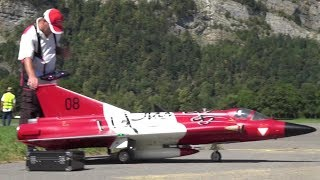 SAAB J-35Ö Mk II DRAKEN RC TURBINE MODEL JET MODELLFLUGGRUPPE Glarnerland 80.Anniversary