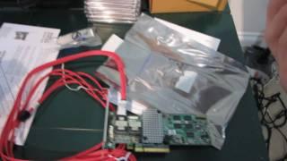 LSI 9260-8i SATA3 SAS 6Gb/s PCIe 2.0 RAID Card Unboxing & First Look Linus Tech Tips