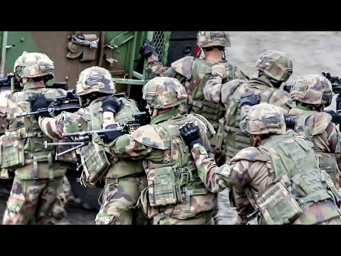 French Army and US Marines – Squad Offensive Attack Training