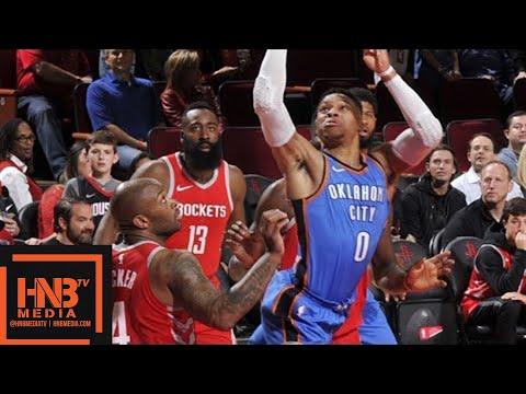 Houston Rockets vs Oklahoma City Thunder Full Game Highlights / April 7 / 2017-18 NBA Season