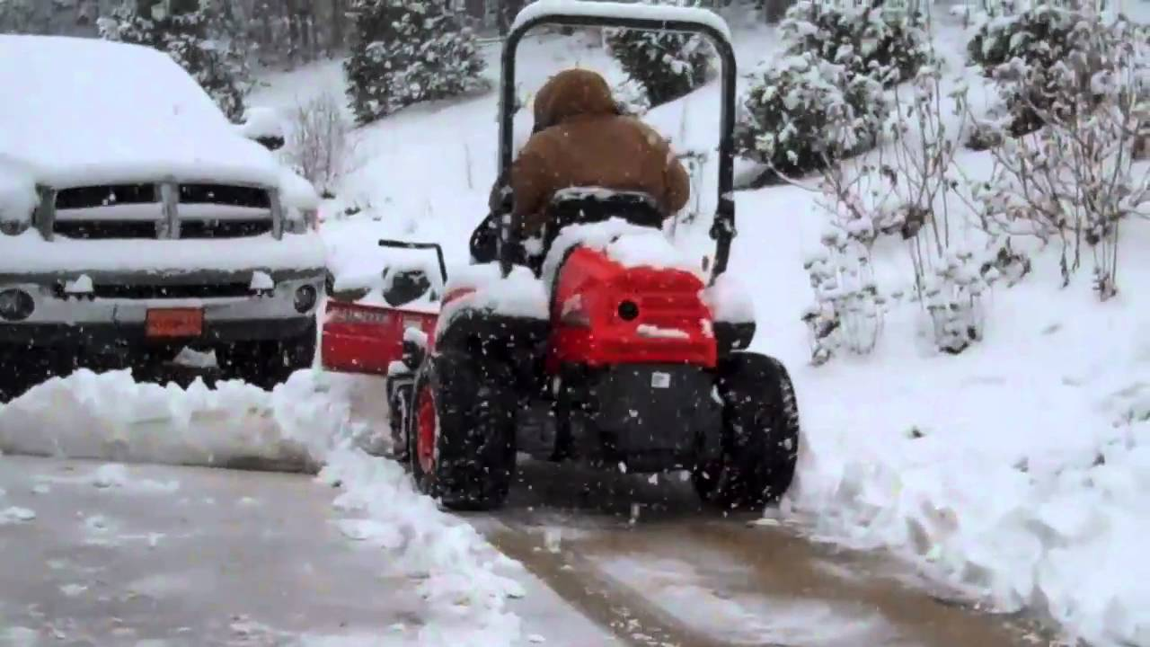 Snow Blower Sale >> kubota zero turn with snow blade - YouTube