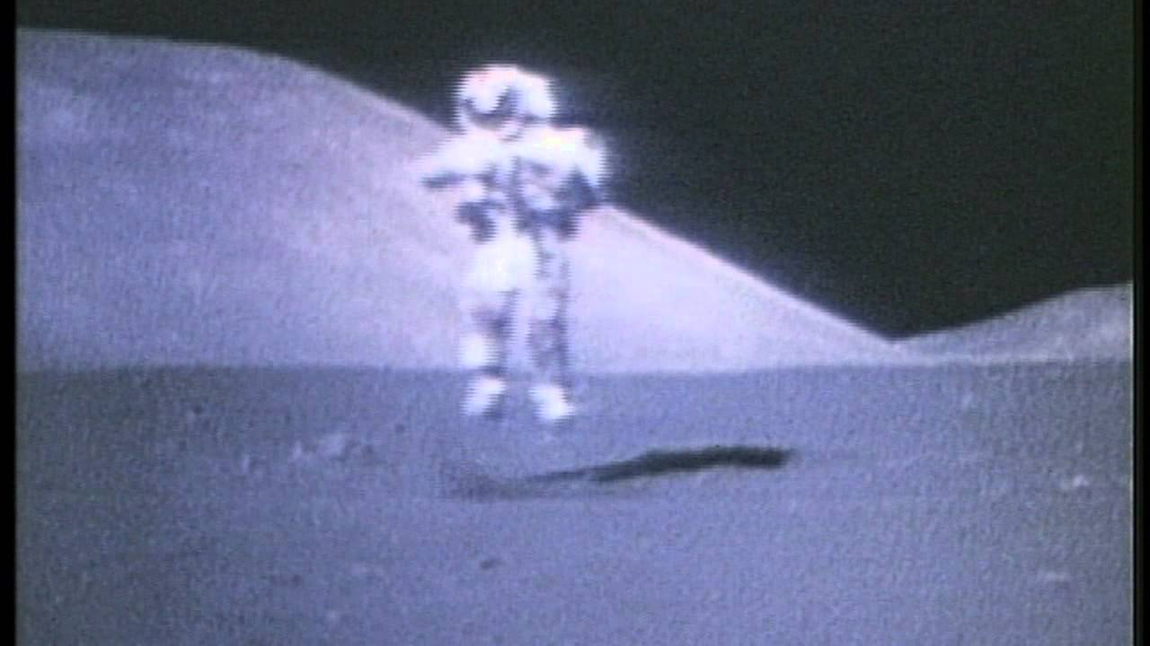 free footage astronaut jumping on the moon hd youtube