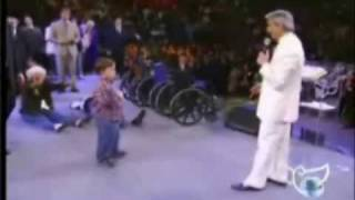 Benny Hinn whips out the FORCE LIGHTNING OF GOD!!!!