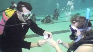 The best Marriage proposal ever!! (underwater, scuba)