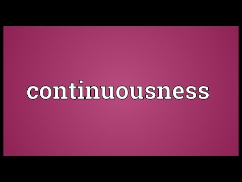 Header of continuousness