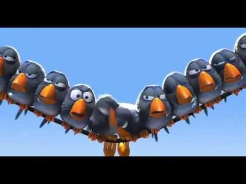 Веселий мультик з приколами о глупих пташках на дроті