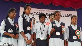 Jaya Bharata jananiya song   Padmanjali school Vijayapura