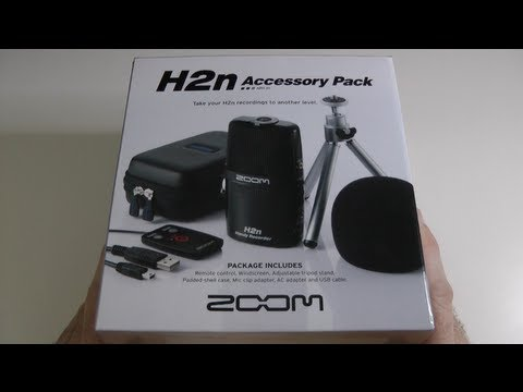 Zoom H2n Accessory Pack Unboxing