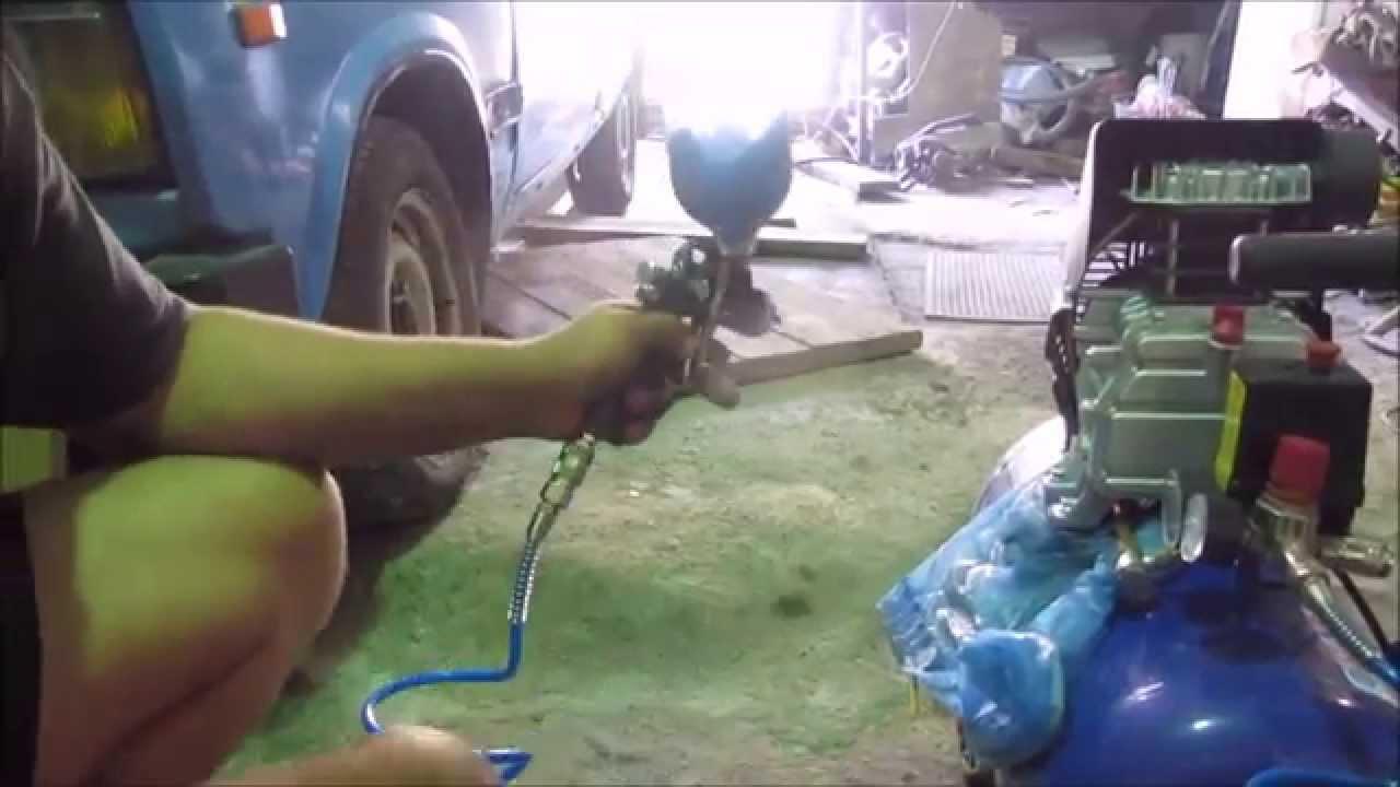 Видео покраска авто своими руками краскопульт