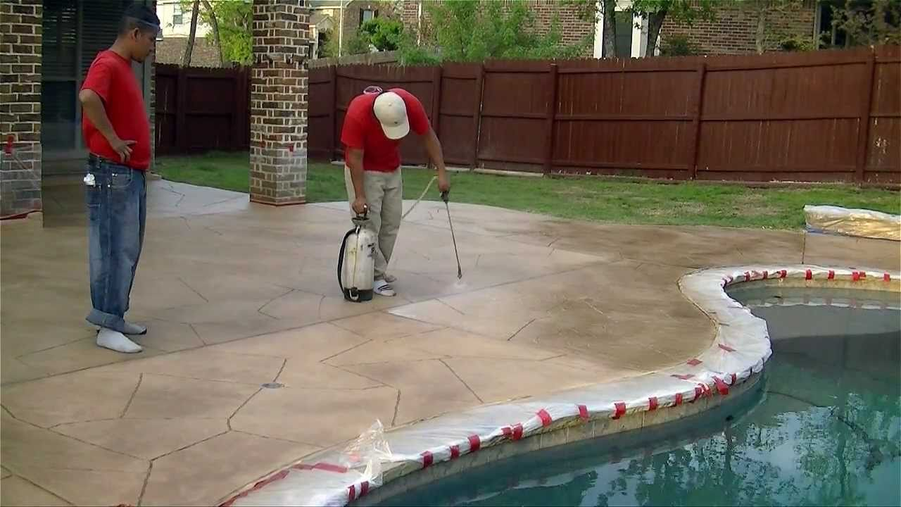 Paint on paint off how we resurface concrete in keller - Exterior concrete resurfacing products ...