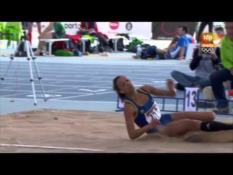 Triple salto mujeres final campeonato de España de atletismo 2014 en pista cubierta