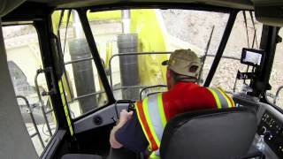 Meet the Pros: 994K Cat® Large Wheel Loader Operator Cab