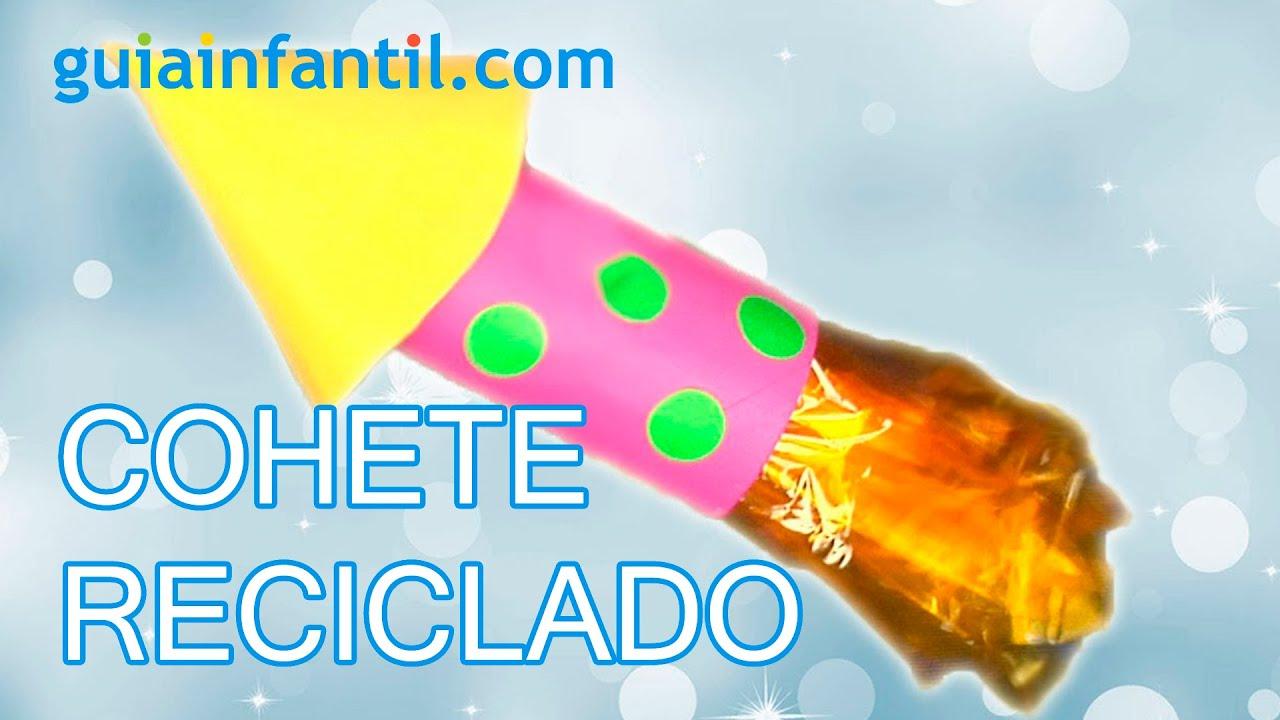 Un cohete con material reciclado manualidades para ni os - Material para manualidades infantiles ...