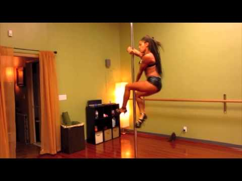 Nicole Thepole Williams Pole Dance To Ciara Body Party video