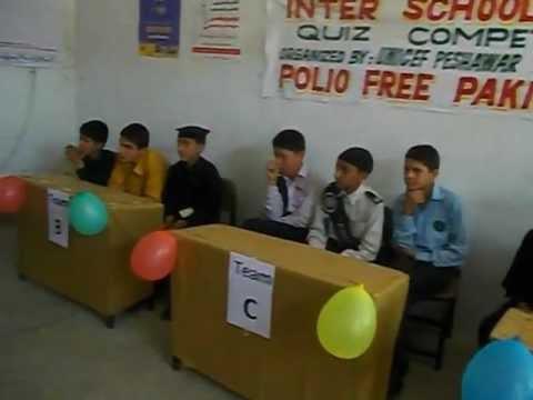 Polio Quiz Competition Peshawar Pakistan (Inter Schools).AVI