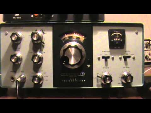 Demo of Heathkit Tranceiver HW-101