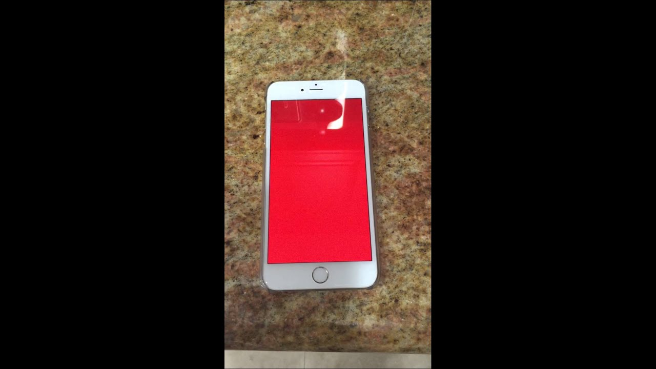 iphone 6 plus 128gb red screen of death youtube. Black Bedroom Furniture Sets. Home Design Ideas