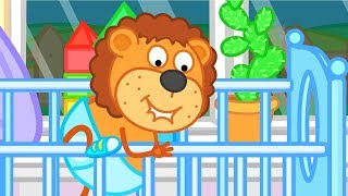 Lion Family Little Brother Can't Fall Asleep Cartoon for Kids