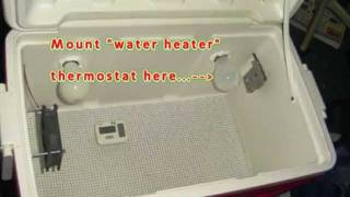 Home Made Egg Incubator. How to install your Thermostat!