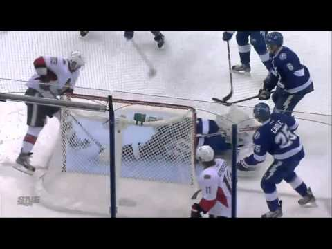 Guillaume Latendresse Goal (Ottawa Senators vs Tampa Bay Lightning April 9, 2013) NHL HD