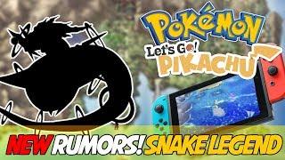 NEW POKEMON SWITCH RUMORS! Pokemon Let's Go Pikachu - Future Kanto - Snake Legendary + More!