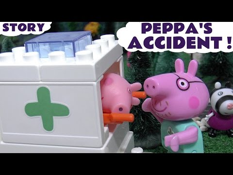 Peppa Pig Accident Thomas and Friends Play Doh Hospital Construction Set Toys Unboxing Review