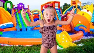 6 Year Old Everleigh Turned Her Backyard Into A Real Waterpark For 24 Hours!!!