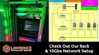 Check Out Our Rack / Servers  / Network / 10GbE Cabling Tour and The UnIFI US-16-XG