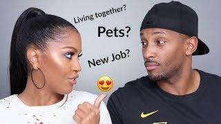 Boyfriend Q & A Part 1: Living Together, Marriage, Babies | MakeupShayla