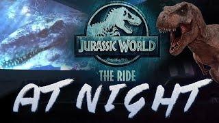 Jurassic World the Ride AT NIGHT [4K] - FULL RIDE POV Almost Empty Boat Universal Studios Hollywood