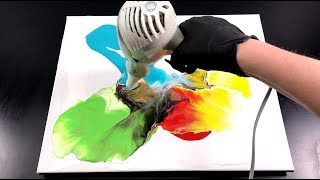 Dutch pour Week -Colorful- Fluid Painting - inspired by Rinske Douna - 1 of 5