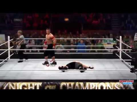 Wwe Night Of Champions 2014 Brock Lesnar Vs John Cena Wwe World Heavyweight Championship Result video