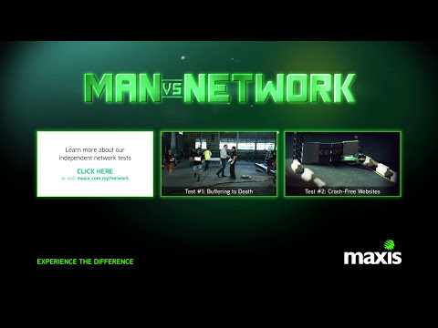 Full Video: Maxis Man vs Network: Download Speed More Than 1Mbps