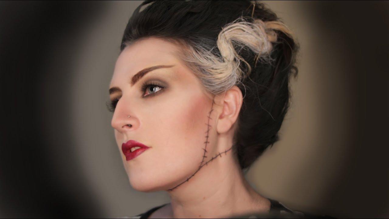 Halloween: Bride of Frankenstein - Makeup - YouTube