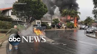 Small plane crashes into residential neighborhood in Southern California