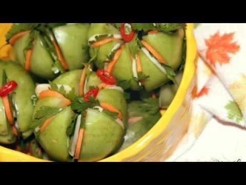 Рецепт острых зелёных помидор