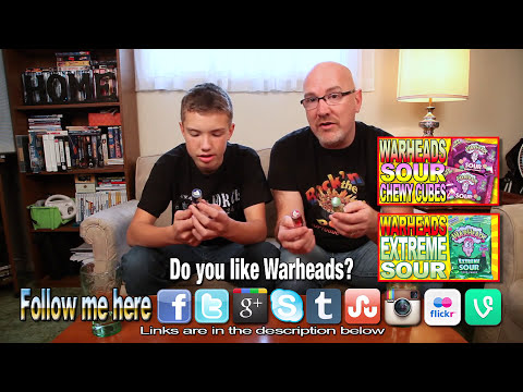 WarHeads ★ Super Sour Spray Candy with Co-Host Ben