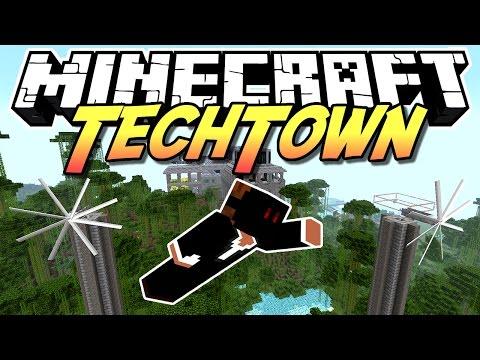 Minecraft TechTown - HV Solar + Extreme Windmills #56 - auf gamiano.de