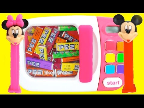 Microwave Just Like Home Toy Appliances Surprise Toys PEZ Mickey Mouse Finger Family Nursery Rhymes