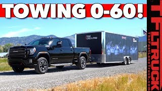 We Tow 14,000 lbs With the 2020 GMC Sierra HD AT4 Off-Road Truck - But What SURPRISE Are We Towing?